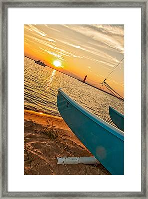Lake Michigan Calm Framed Print by Emily Kay