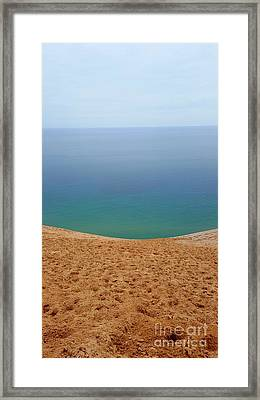 Lake Michigan Colors Framed Print