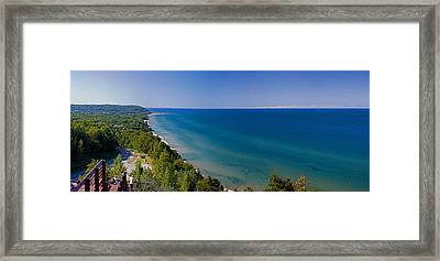 Lake Michigan From Arcadia Overlook Framed Print by Twenty Two North Photography