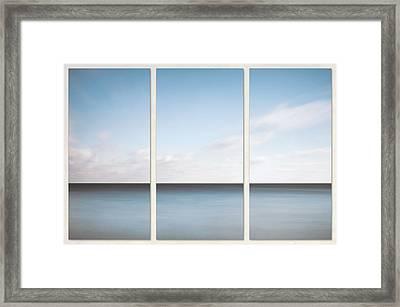 Lake Michigan Minimalist Triptych Framed Print by Scott Norris