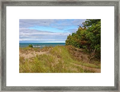 Lake Michigan Shore Framed Print