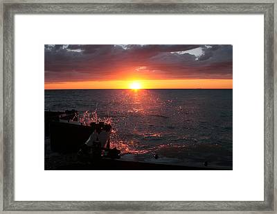 Framed Print featuring the photograph Lake Michigan Sunset by Bruce Patrick Smith