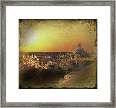 Lake Michigan Sunset Framed Print by Maria Dryfhout