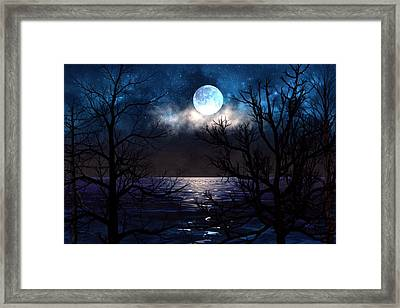 Lake Midnight Framed Print