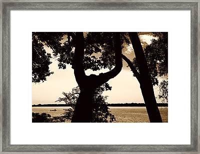 Lake Minnesota Framed Print by Susan Stone