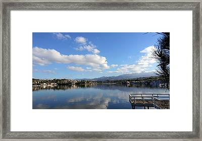 Lake Mission Viejo Cloud Reflections Framed Print