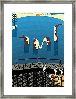 Lake Monster Framed Print