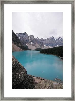 Lake Moraine Framed Print by Caroline Clark