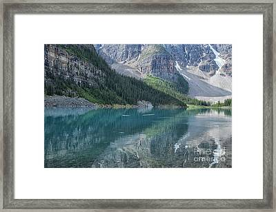 Framed Print featuring the photograph Lake Moraine by Patricia Hofmeester