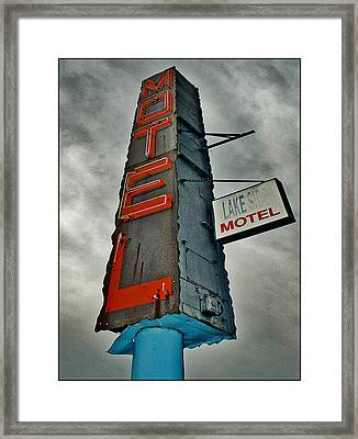 Lake Motel Framed Print by Curtis Staiger