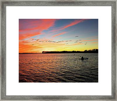 Lake Murray Fisherman Framed Print