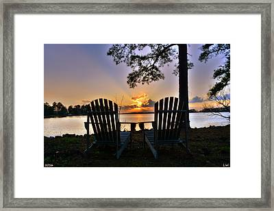 Lake Murray Relaxation Framed Print