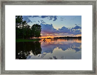 Lake Murray Sc Reflections Framed Print