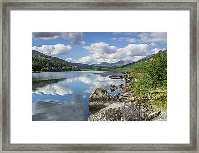Framed Print featuring the photograph Lake Mymbyr And Snowdon by Ian Mitchell