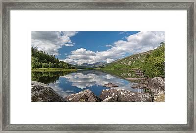 Lake Mymbyr Rocks Framed Print