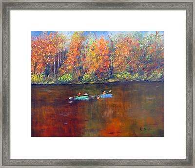 Lake Nockamixon Autumn Framed Print by Loretta Luglio