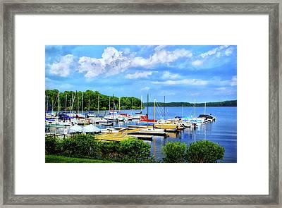 Lake Nockamixon Marina Framed Print