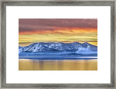 Lake Of Gold Framed Print by Steve Baranek