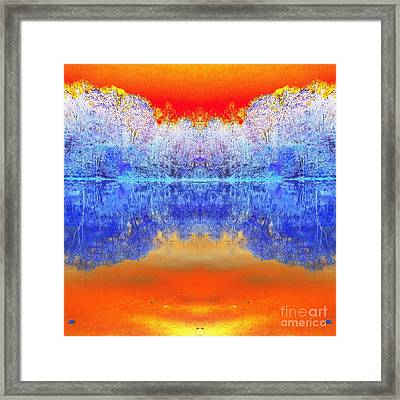 Lake Of Many Colors  Framed Print