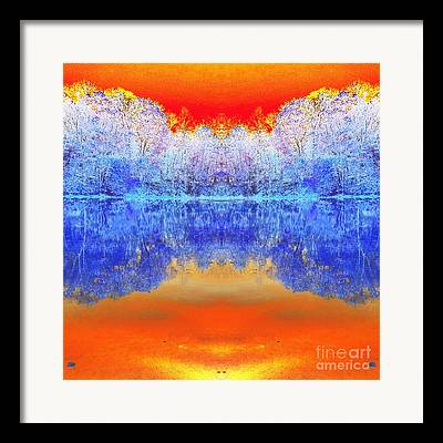 Indiana Autumn Scenes Digital Art Framed Prints