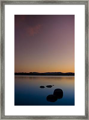 Lake Of Menteith By Sunset Framed Print