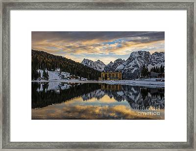 Lake Of Misurina Framed Print