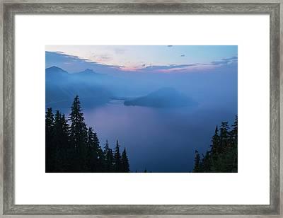 Lake Of Mystery  Framed Print