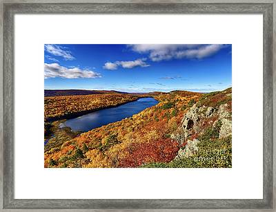 Lake Of The Clouds Autumn Framed Print by Bryan Benson