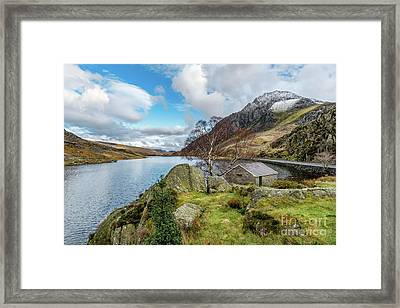 Lake Ogwen And Tryfan Mountain Framed Print