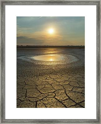 Framed Print featuring the photograph Lake On Fire by Davor Zerjav