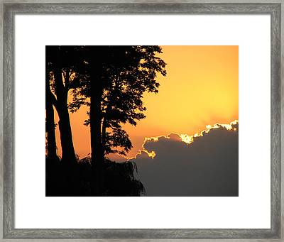 Lake Ontario Sunset Framed Print by Helaine Cummins