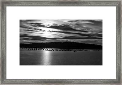 Lake Oroville At Dusk Framed Print