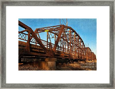 Lake Overholser Bridge Framed Print by Lana Trussell