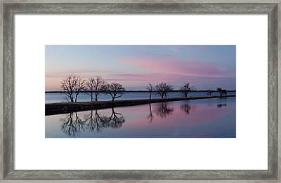 Lake Overholser Sunset Framed Print