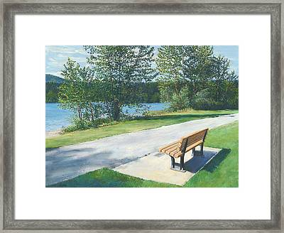 Lake Padden Series - Memorial Bench Of Andrew Phillip Jones Framed Print
