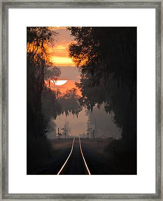 Lake Park Sunrise Framed Print by Dan Wells