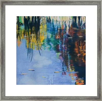 Lake Pearl Reflections Framed Print by Lucinda  Hansen