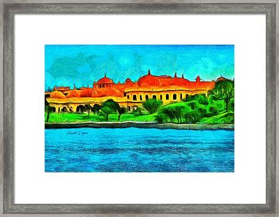Lake Pichola - Da Framed Print