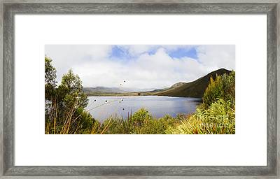 Lake Plimsoll In Western Tasmania Australia Framed Print