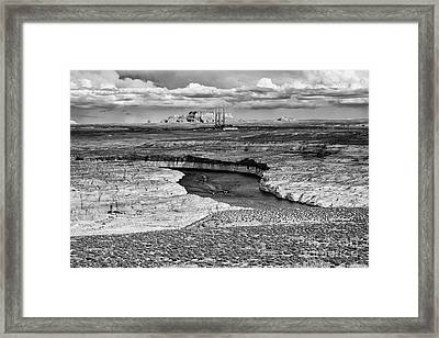 Lake Powell - Colorado River - Navajo Generating Station - Glen Canyon Page Northern Arizona Framed Print by Silvio Ligutti
