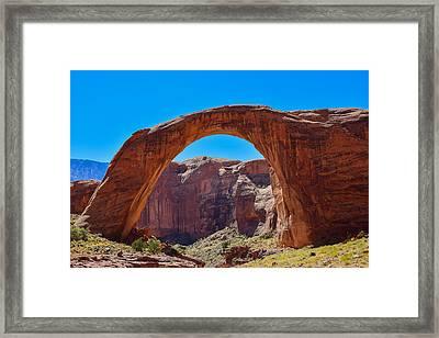 Lake Powell - Rainbow Bridge Framed Print