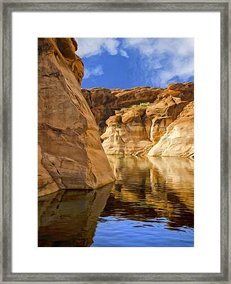 Lake Powell Stillness Framed Print by Dominic Piperata