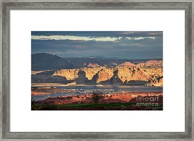 Lake Powell Sunrise Framed Print by Jim Chamberlain
