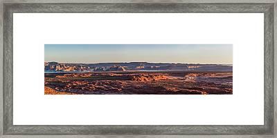 Lake Powell Sunrise Panorma Framed Print