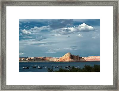 Lake Powell Water Color Effect Framed Print