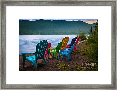 Lake Quinault Chairs Framed Print