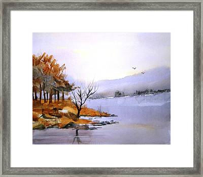 Lake Ransom Framed Print by Larry Hamilton