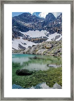 Lake Rebecca And Mount Borah 2 Framed Print