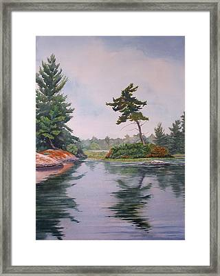 Lake Reflection Framed Print by Debbie Homewood