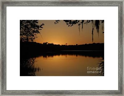 Lake Reflections Framed Print by David Lee Thompson